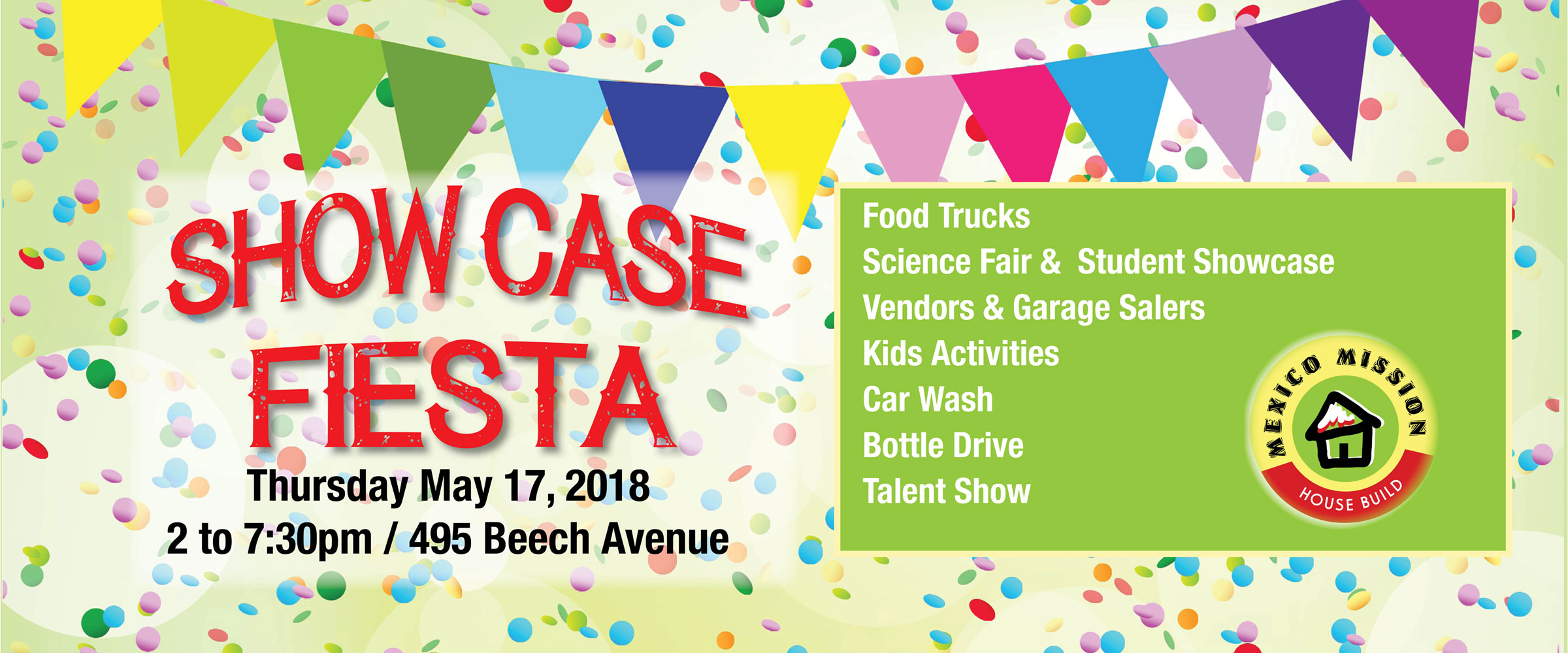 Showcase Fiesta! May 17 2PM – 7:30PM