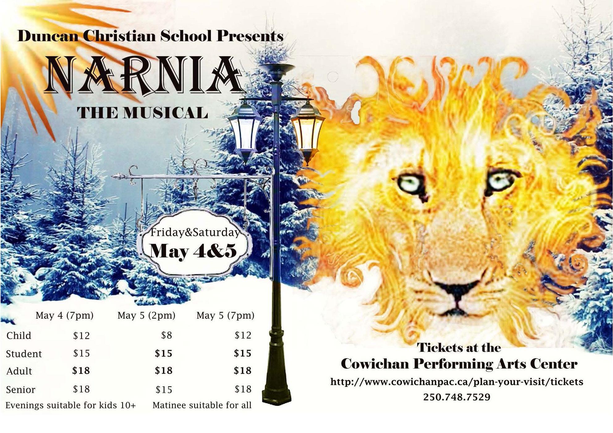 Narnia – May 4 & 5