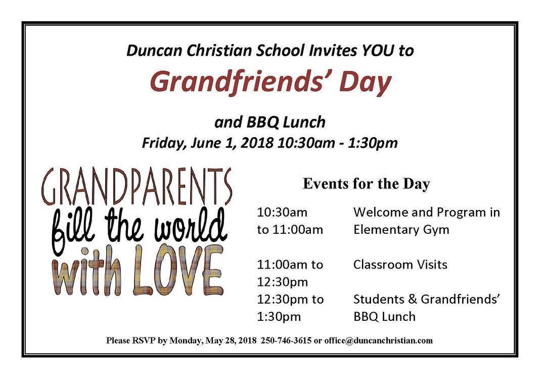 Grandfriends' Day – June 1