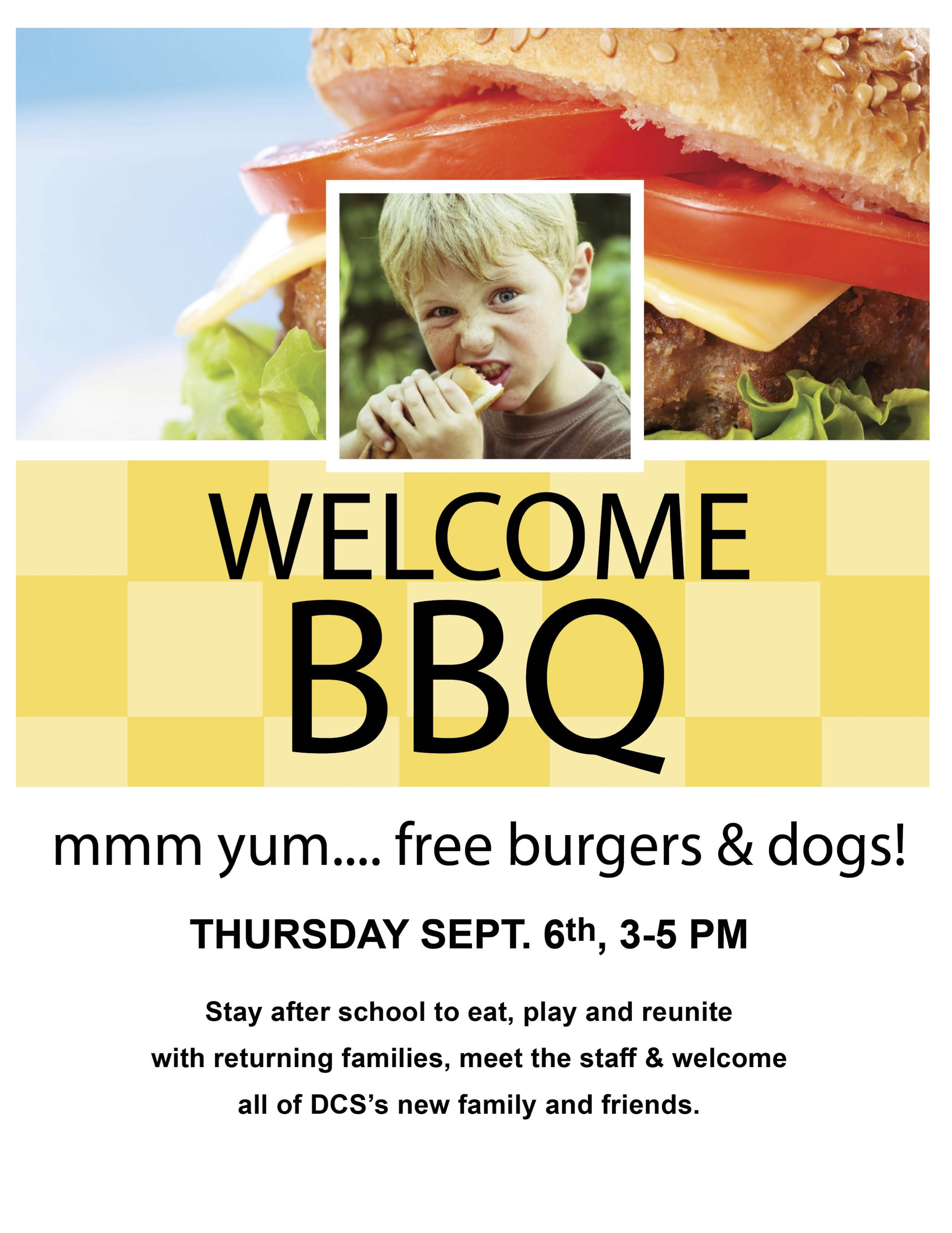 Welcome BBQ – Sept 6 – 3-5PM