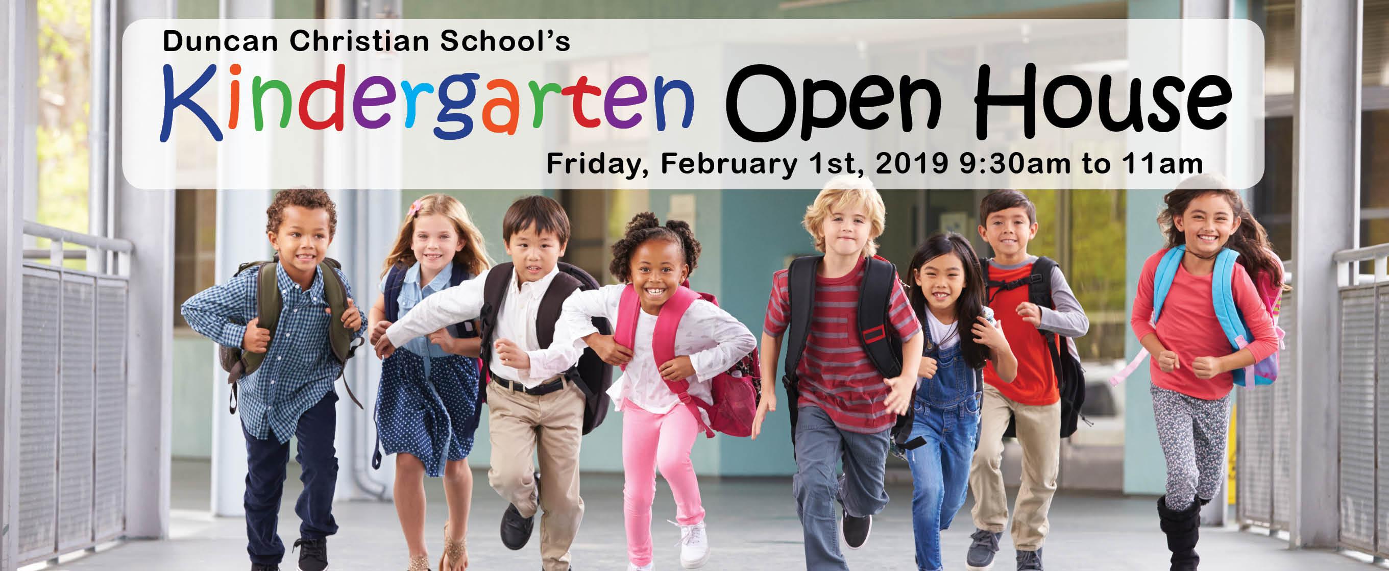 Kindergarten Open House – Feb 1 – 9:30-11:00