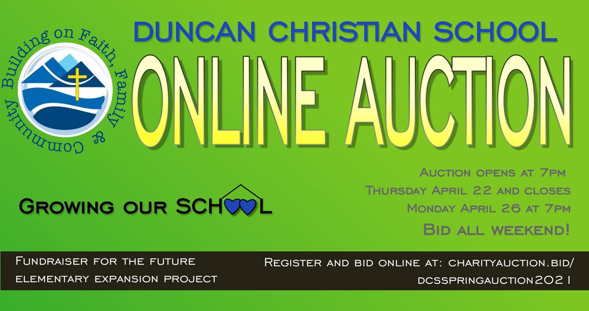 DCS Spring Auction – April 22-26